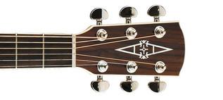 Alvarez AJ80CE Jumbo Electro Acoustic Guitar, Natural Headstock