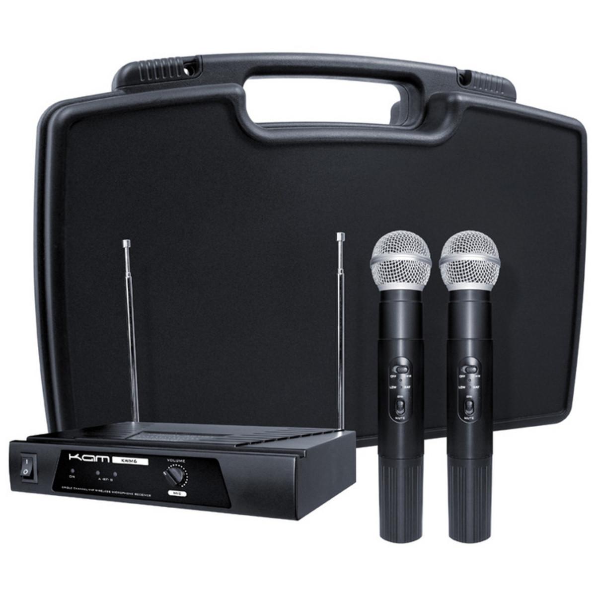 Image of KAM KWM11 Dual Handheld Wireless Microphone System 174.1/174.5