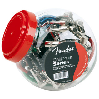 Fender California Patch Cables Bowl of 20 (Assorted), 15cm