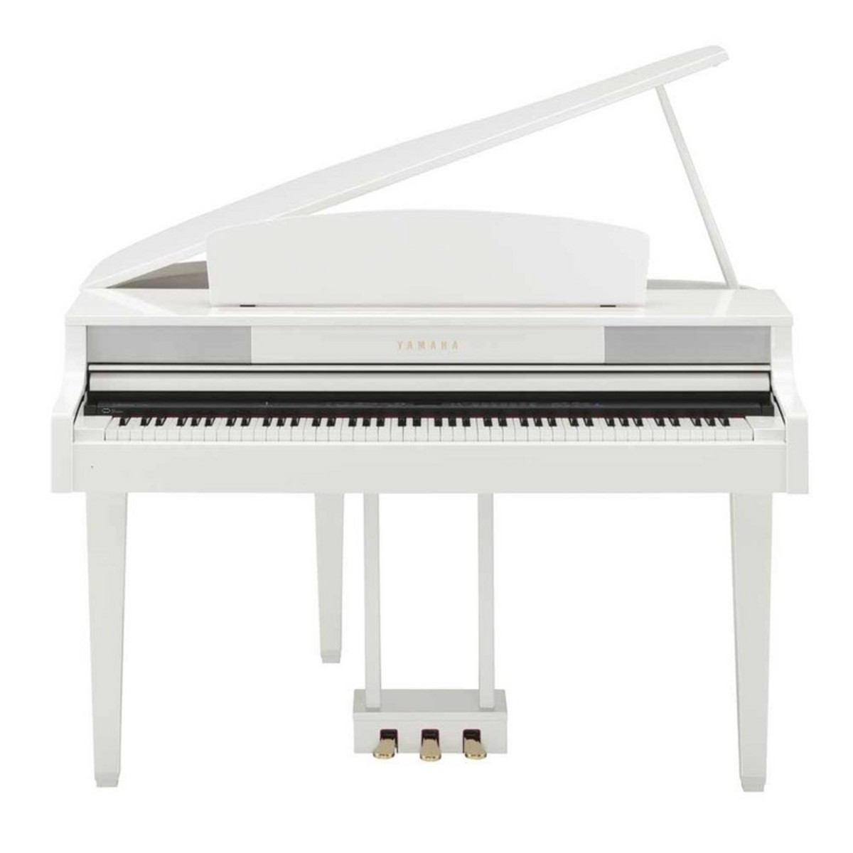 Yamaha clp465 piano queue blanc brillant avec banc for Piano blanc a queue