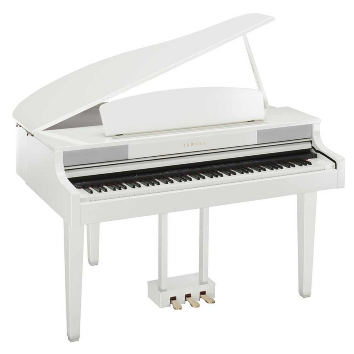 Disc yamaha clp465 grand piano polished white with for White yamaha piano