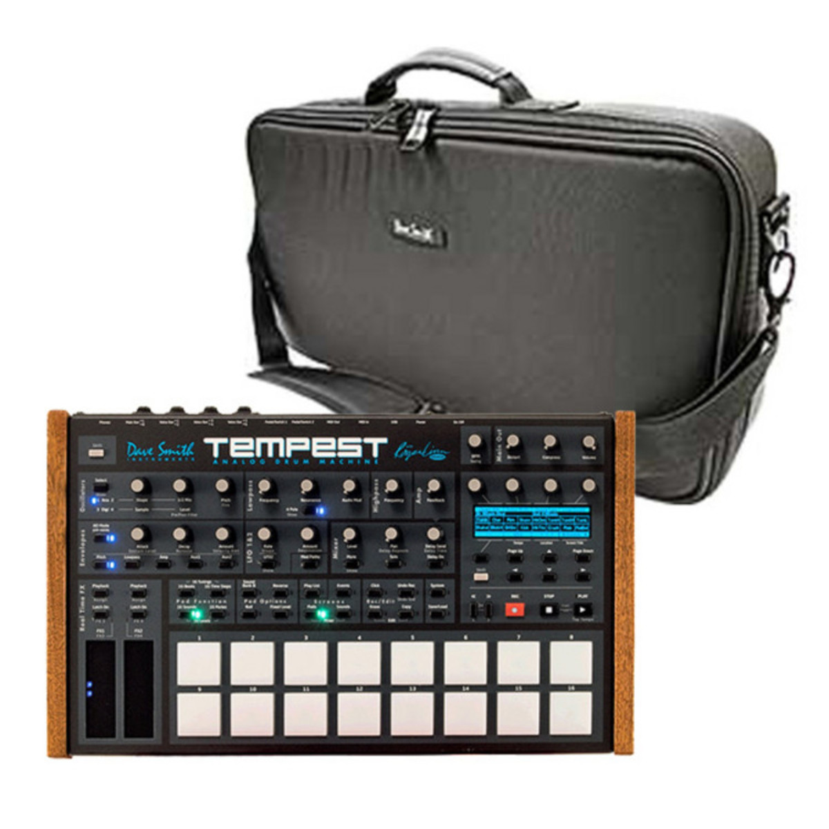 dave smith instruments tempest analog drum machine and bag at. Black Bedroom Furniture Sets. Home Design Ideas