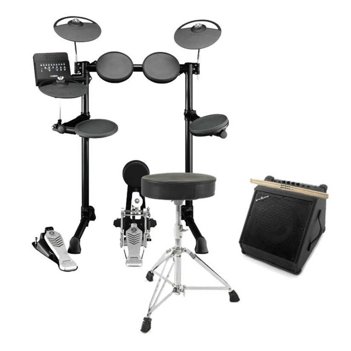 Yamaha Dtx450k Electronic Drum Kit With Amp Stool And