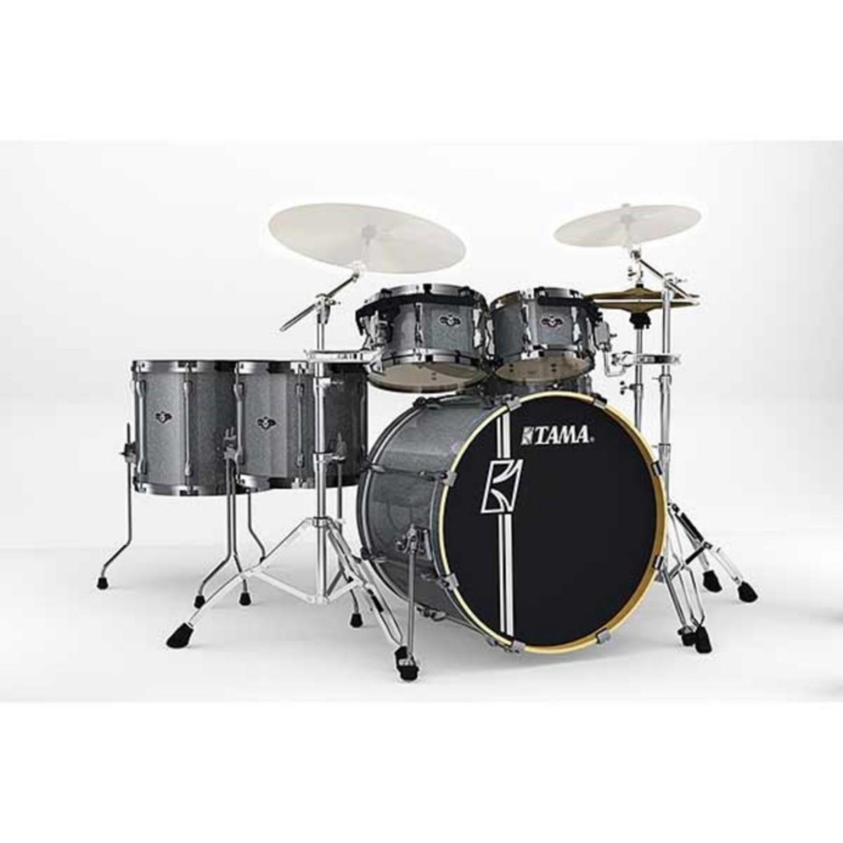 tama superstar hyperdrive drum kit galaxy silver burst at. Black Bedroom Furniture Sets. Home Design Ideas