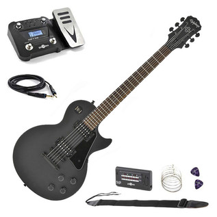 Epiphone Gothic Les Paul Studio, Black Satin with Multi FX Pedal Pack