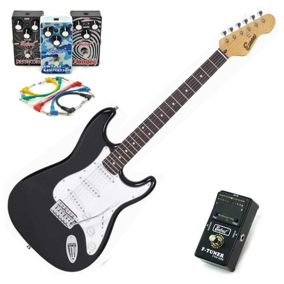 puis encore guitare lectrique noir avec pack rock. Black Bedroom Furniture Sets. Home Design Ideas