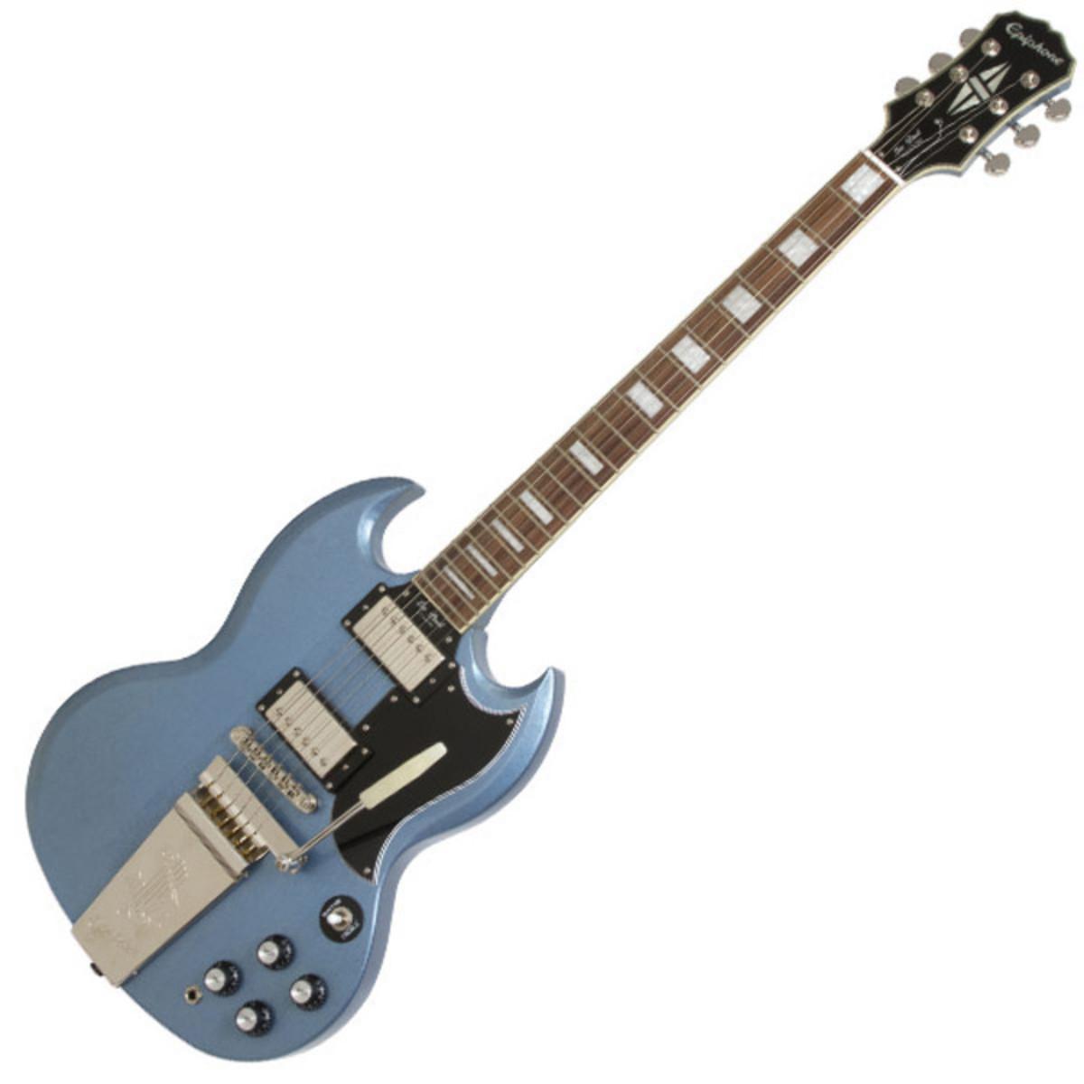 disc epiphone limited edition sg custom guitar maestro tv pelham blue at