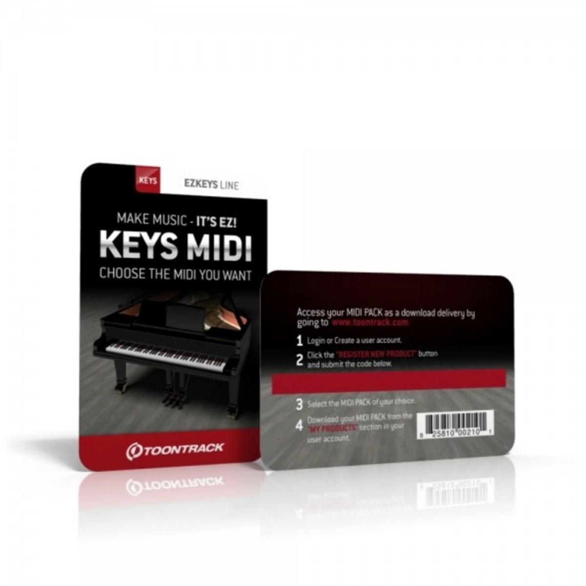 toontrack ezkeys generic midi pack serial number card at. Black Bedroom Furniture Sets. Home Design Ideas