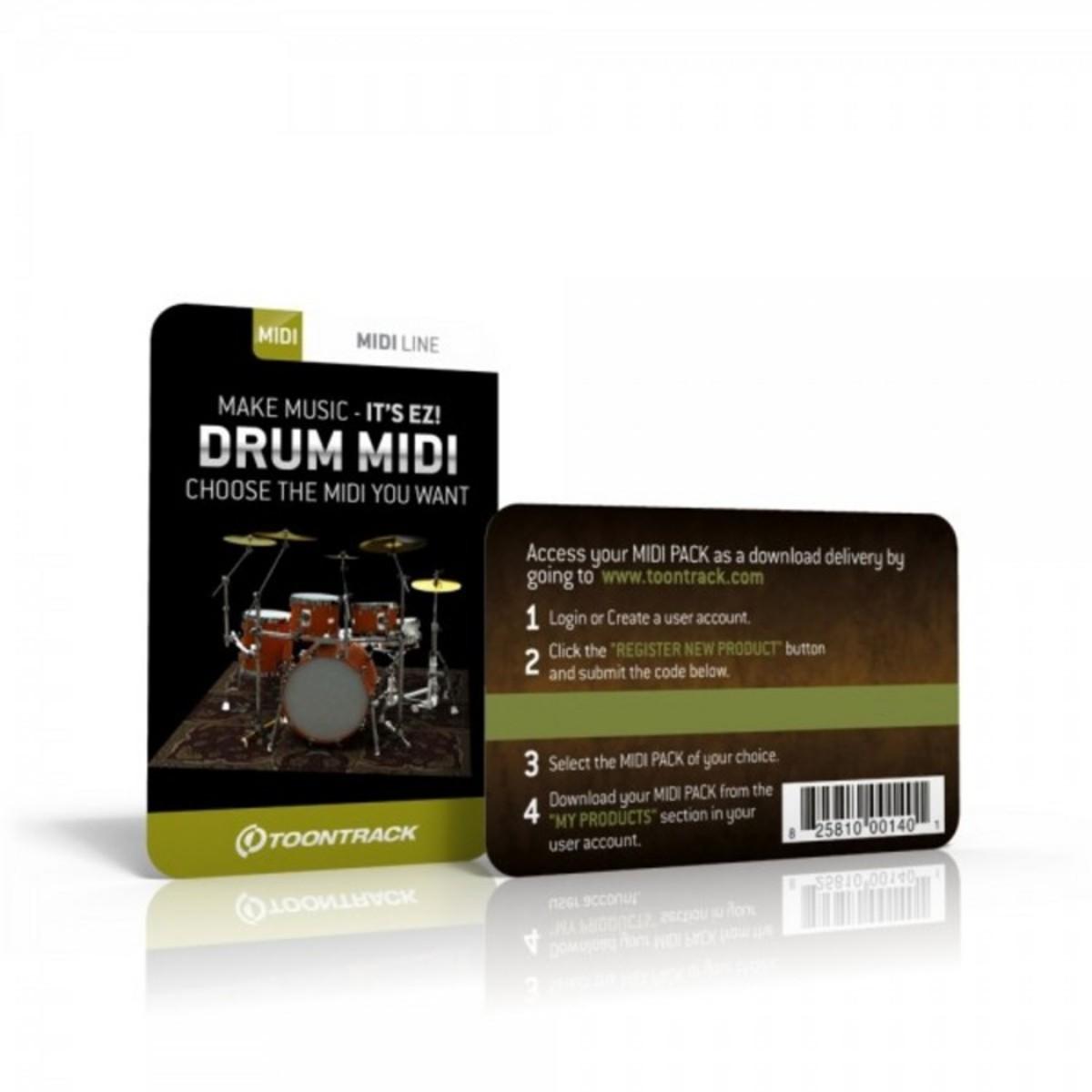 toontrack drum midi pack serial number card at. Black Bedroom Furniture Sets. Home Design Ideas