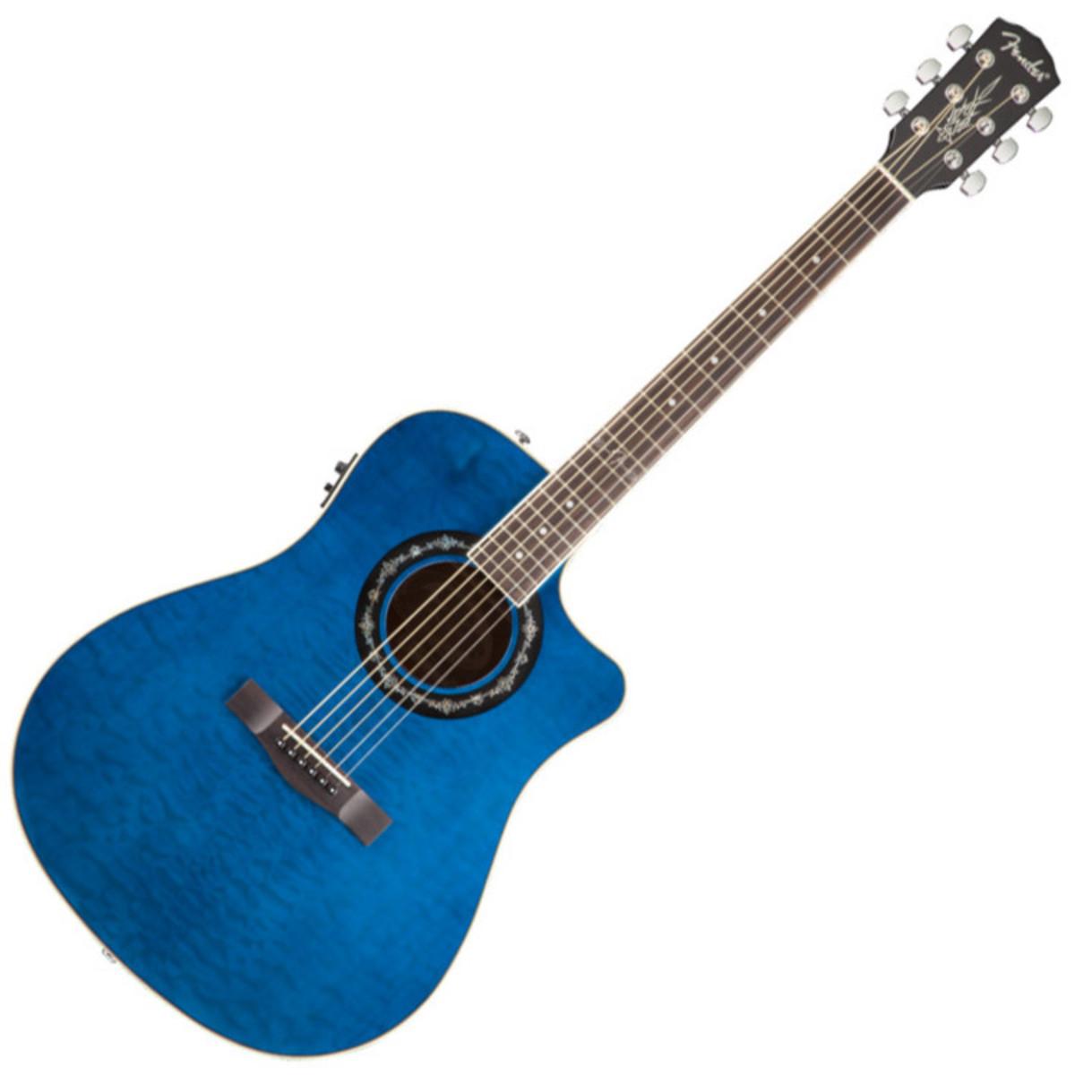 fender t bucket 300 ce electro acoustic guitar trans blue at. Black Bedroom Furniture Sets. Home Design Ideas