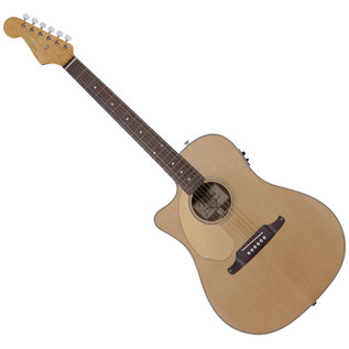Fender Sonoran SCE Left Handed Electro Acoustic Guitar, Natural