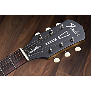 Fender Tim Armstrong Hellcat Electro Acoustic Guitar, Natural Headstock