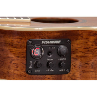 Fender Ukulele Mino'Aka Concert Electro-Acoustic Ukulele, Natural Pickup