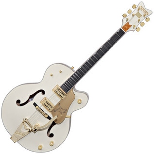 Gretsch G6136TLTV White Falcon Electric Guitar, Vintage White Lacquer