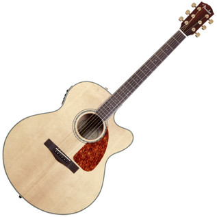 Fender CJ-290SCE Jumbo Cutaway Electro Acoustic Guitar, Natural