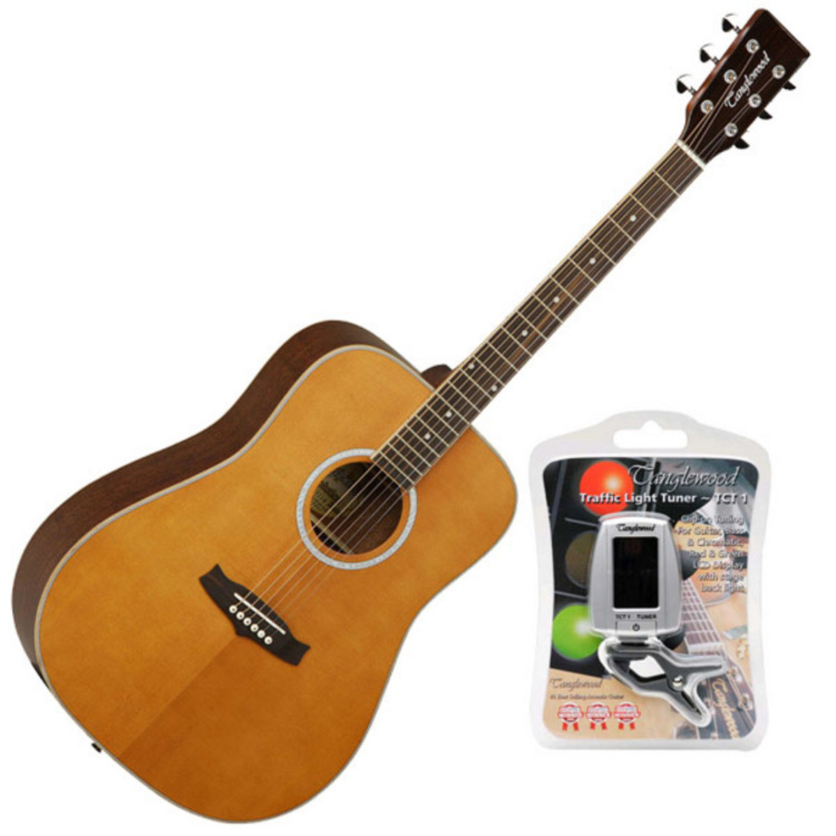 disc tanglewood evolution tw28 acoustic guitar natural free tuner at. Black Bedroom Furniture Sets. Home Design Ideas