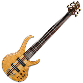 Ibanez BTB1406 6-String Bass Guitar, Vintage Natural Flat