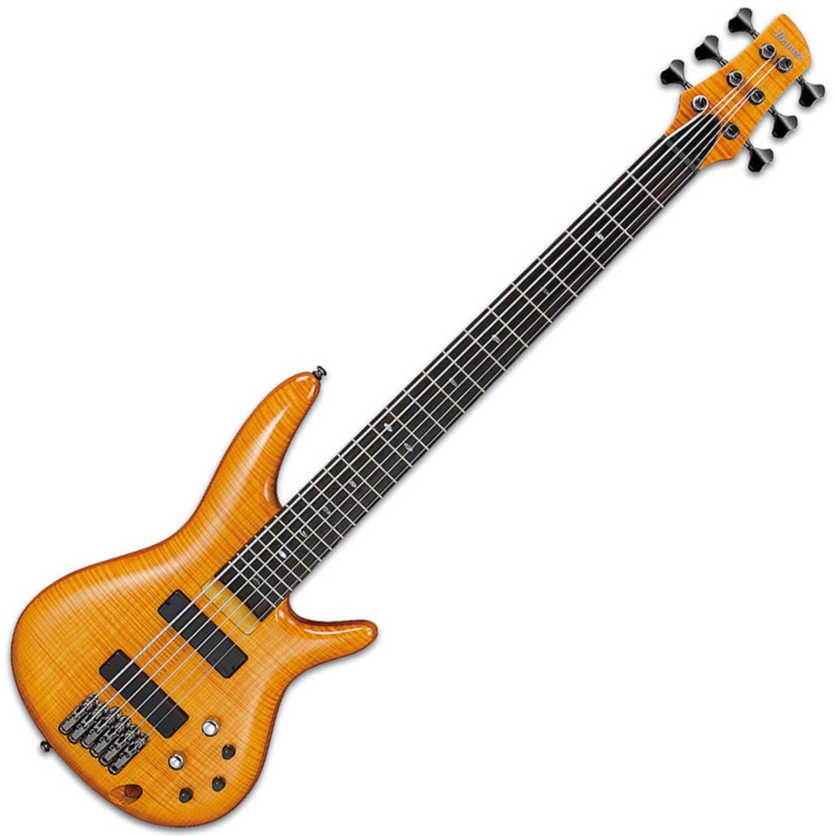 ibanez gvb36 gerald veasley signature 6 string bass guitar amber at. Black Bedroom Furniture Sets. Home Design Ideas