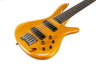Ibanez GVB36 Gerald Veasley Signature 6-String Bass Guitar, Amber Top