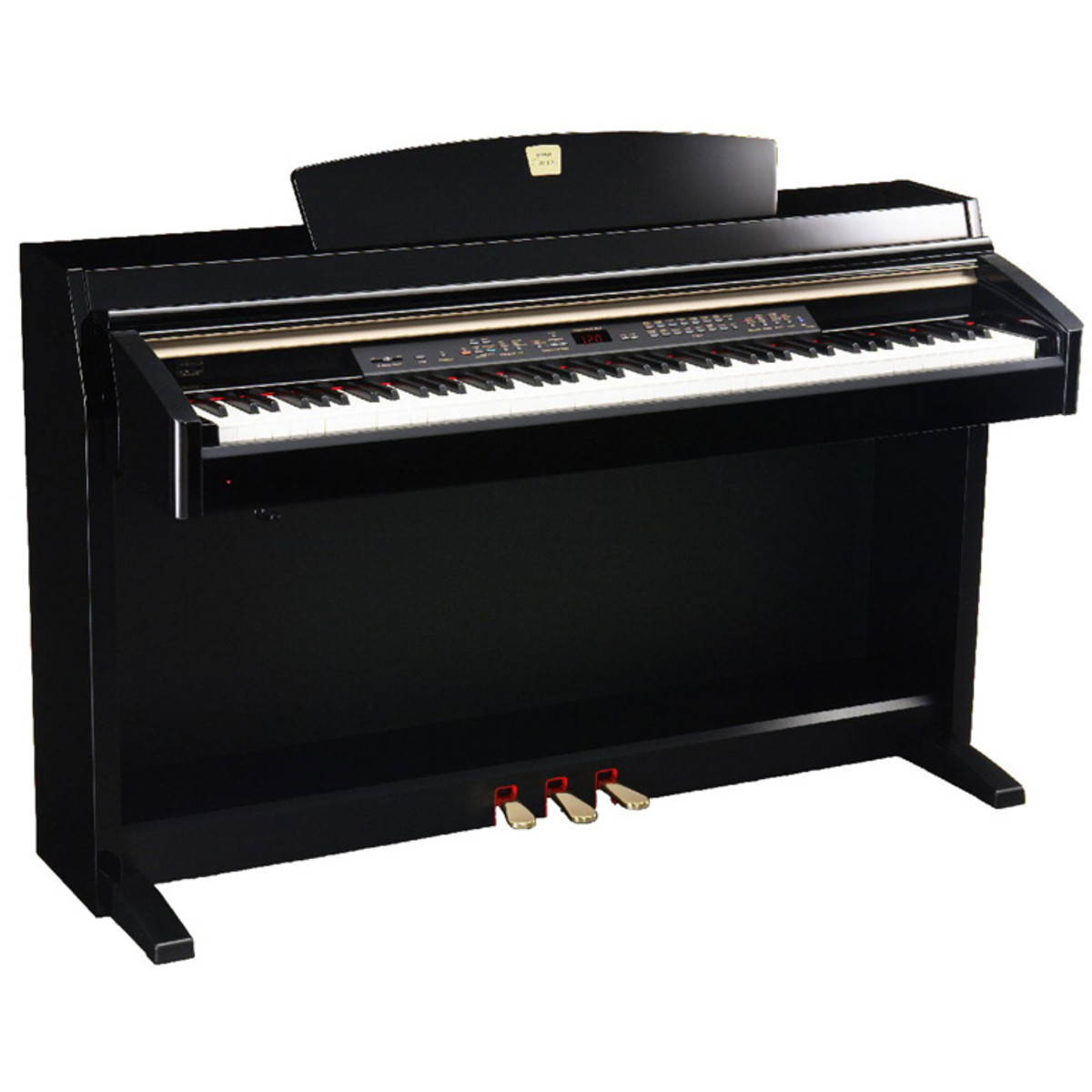 disc yamaha clavinova clp240pe polished ebony at. Black Bedroom Furniture Sets. Home Design Ideas