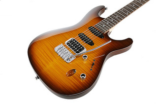 Ibanez SA160FM SA Series Electric Guitar, Brown Burst Top