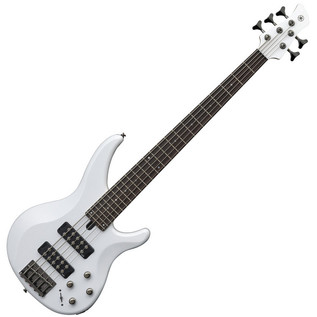 Yamaha TRBX305 5-String Bass Guitar, White