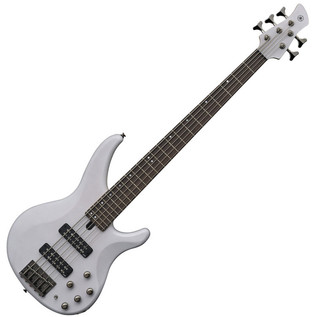 Yamaha TRBX505 5-String Bass Guitar, Translucent White