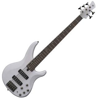 Yamaha TRBX505 5-String Bass Guitar, Translucent White