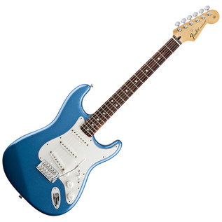 Fender Standard Stratocaster Electric Guitar, RW, Lake Placid Blue