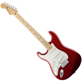 Fender Standard Stratocaster LH Electric Guitar, MN, Candy Apple Red