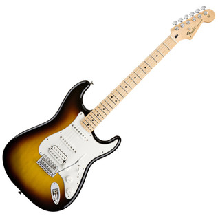 Fender Standard Stratocaster HSS Electric Guitar, MN, Brown Sunburst