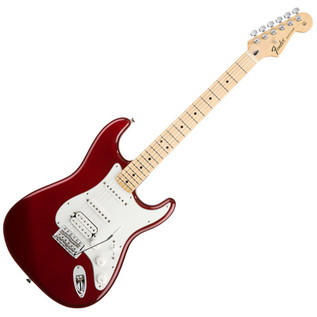 Fender Standard Stratocaster HSS Electric Guitar, MN, Candy Apple Red