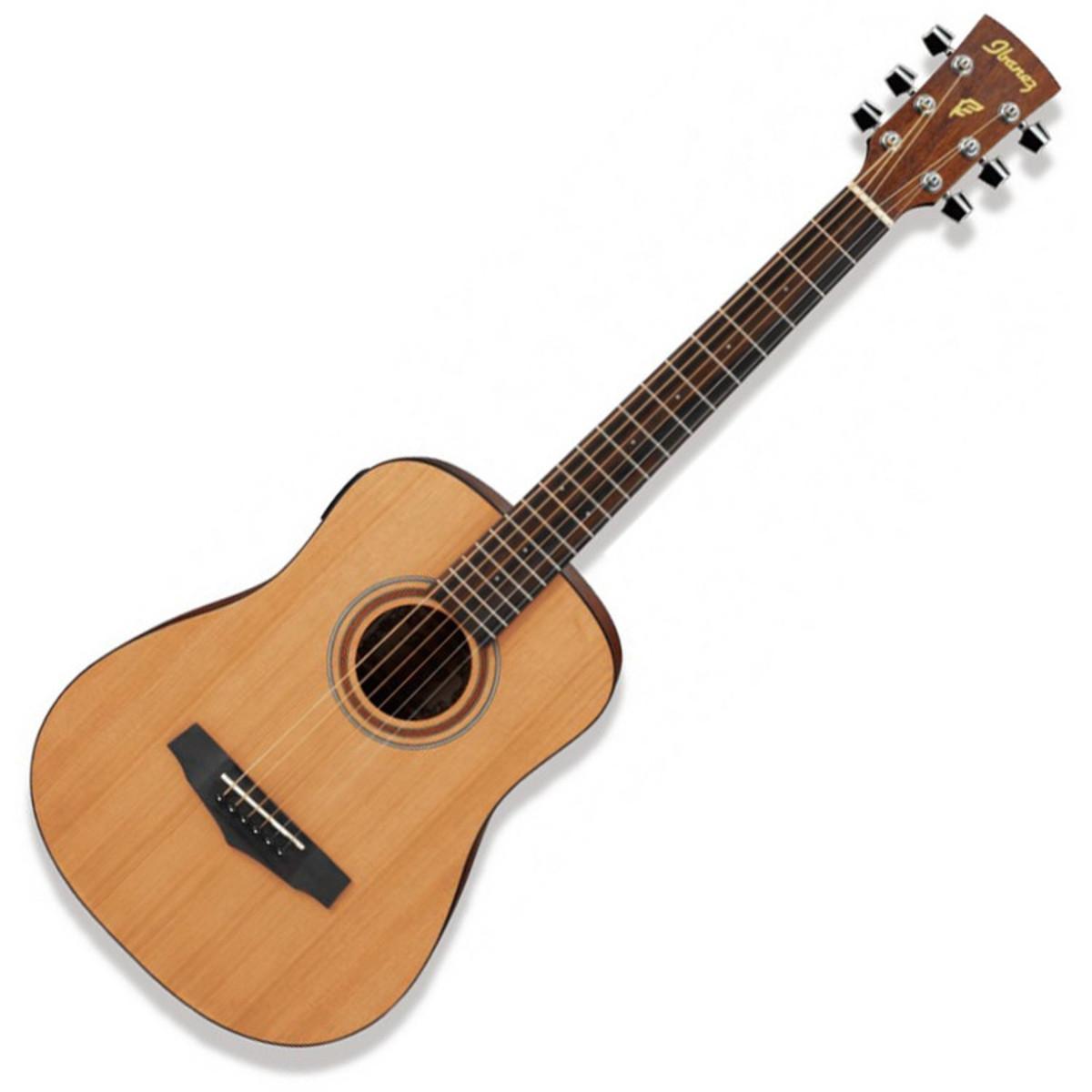 ibanez mini pf58 guitare acoustique de voyage naturel. Black Bedroom Furniture Sets. Home Design Ideas