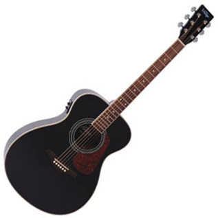 Vintage VE300 Folk Electro Acoustic Guitar, Gloss Black