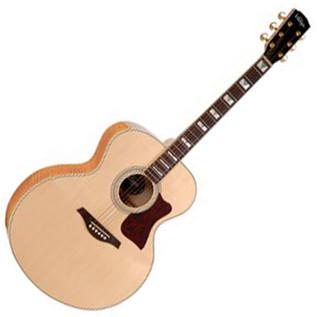 Vintage V1700 All-Solid Super Jumbo Acoustic Guitar, Natural