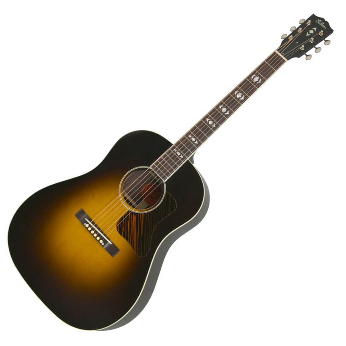 gibson advanced jumbo vintage sunburst acoustic guitar at. Black Bedroom Furniture Sets. Home Design Ideas