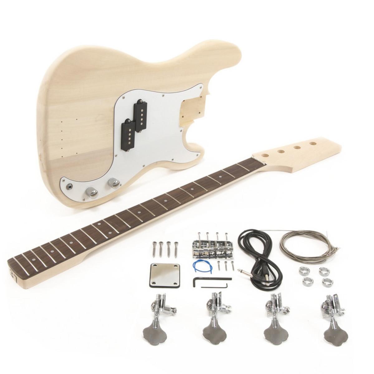 diy bass guitar kit la electric bass guitar diy kit at gear4music