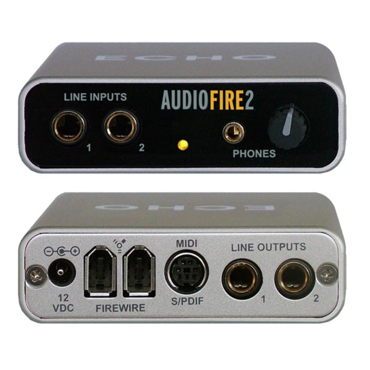 Echo audiofire 2 audio firewire interface a for Porta s pdif