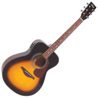 Vintage VE1300 Solid Folk Electro Acoustic Guitar, Vintage Sunburst