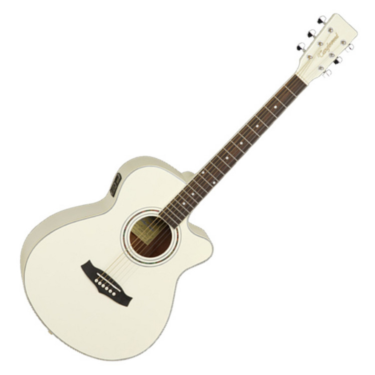 tanglewood discovery electro acoustic guitar pearl white ex demo at. Black Bedroom Furniture Sets. Home Design Ideas