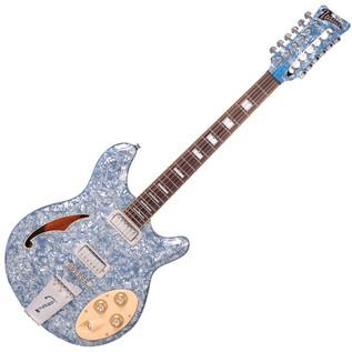 Italia Rimini 12 12-String Semi Acoustic Guitar, Blue Pearl