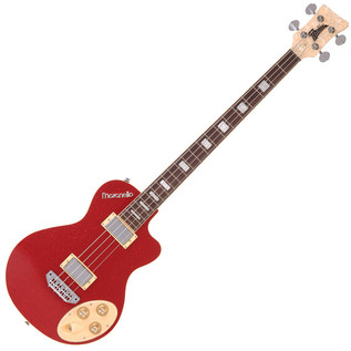 Italia Maranello Classic Bass Guitar, Red