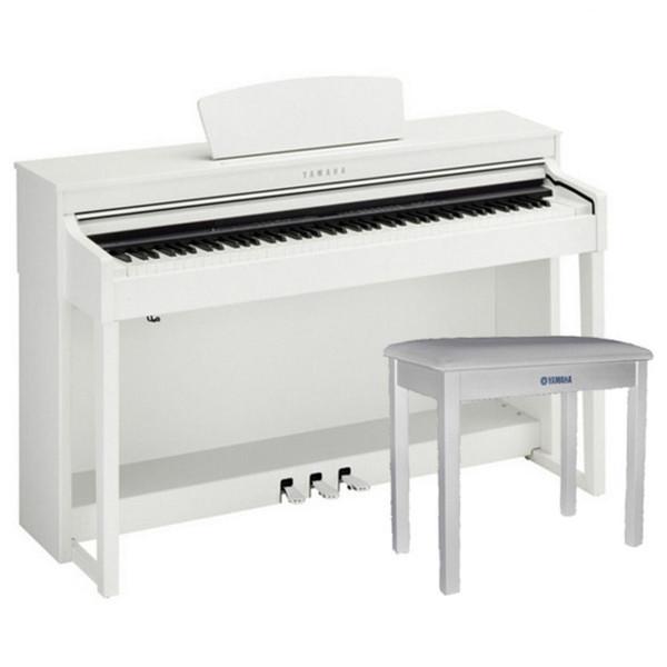 Yamaha Clavinova CLP-430WH White with Matching Bench
