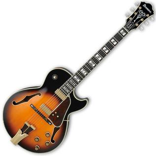 Ibanez GB10 George Benson Semi-Acoustic Guitar, Brown Sunburst