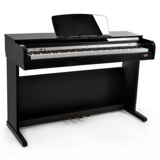 DP10 Digital Piano by Gear4music, Gloss Black + Accessory Pack