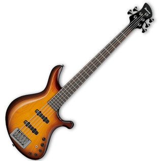 Ibanez G105 Grooveline 5-String Bass Guitar, Brown Burst