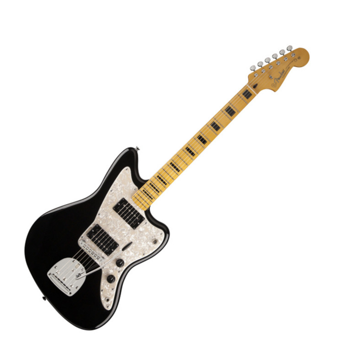 fender modern player jazzmaster hh guitar black at gear4music ie