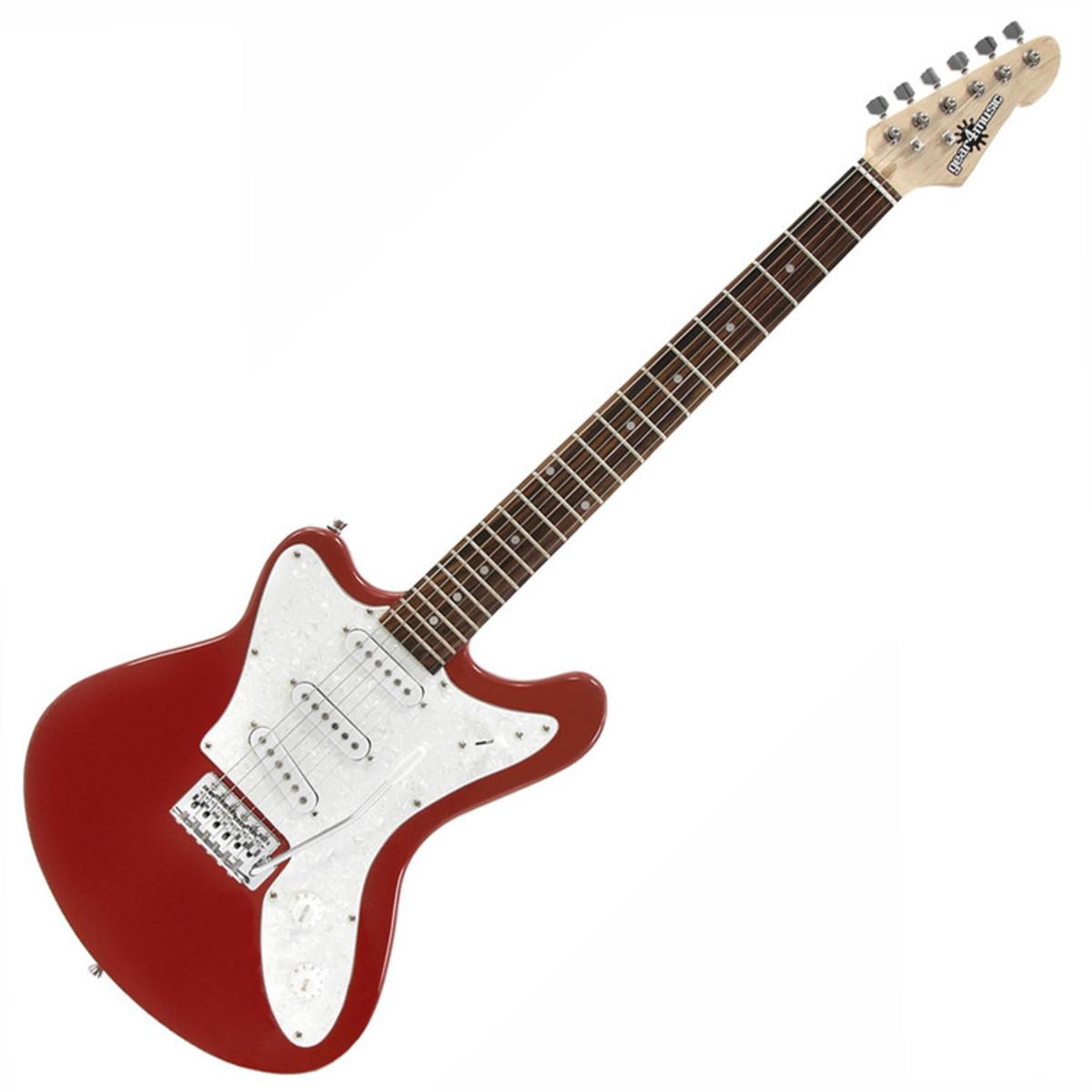 guitare lectrique invers e seattle par gear4music rouge. Black Bedroom Furniture Sets. Home Design Ideas