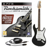 Rocksmith 2014 PS3 + 3/4 LA Electric Guitar, Black