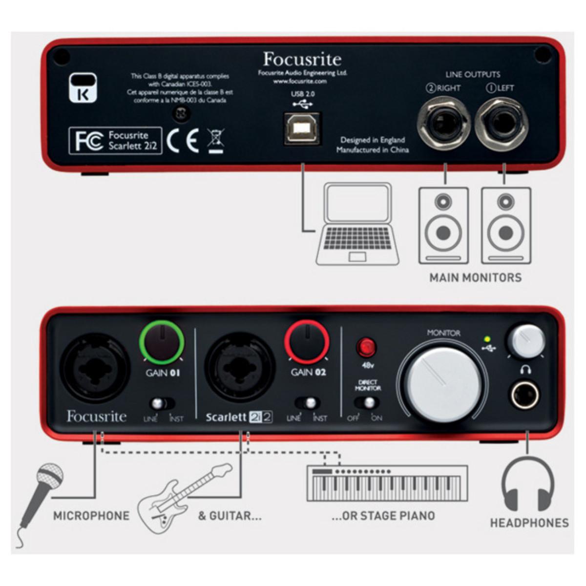 focusrite scarlett 2i2 usb audio interface nearly new at. Black Bedroom Furniture Sets. Home Design Ideas